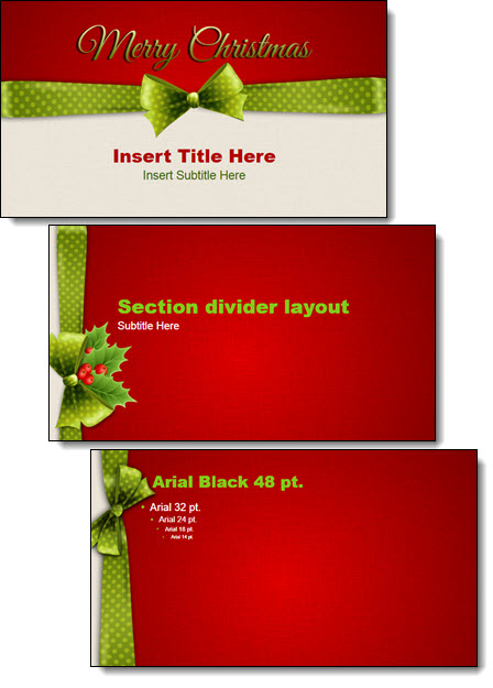 free christmas 2014 powerpoint template | the powerpoint blog, Modern powerpoint