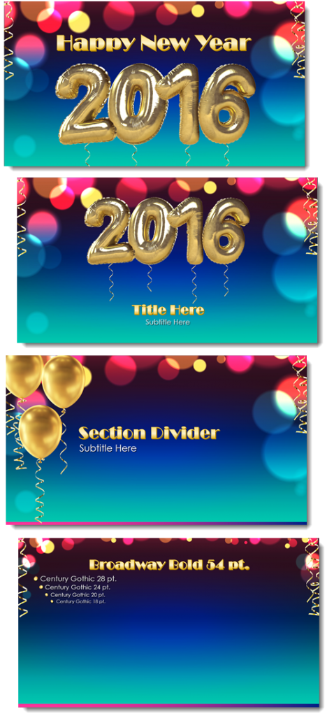 New Year 2016 PowerPoint template