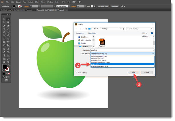 Creating  SVG images in Adobe Illustrator for PowerPoint