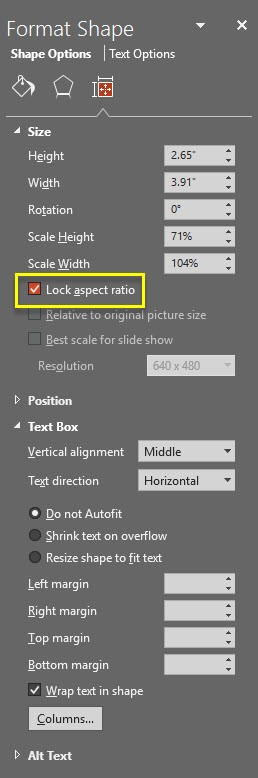 Lock Aspect Ratio | The PowerPoint Blog