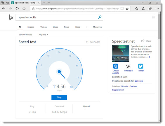 Bing and Inline Speed Test! | The PowerPoint Blog