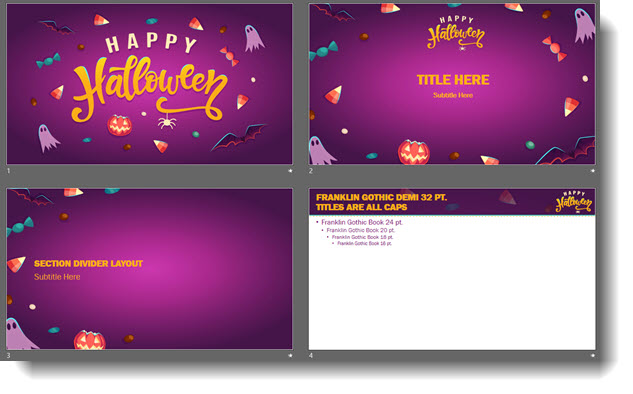 free halloween powerpoint template the powerpoint blog