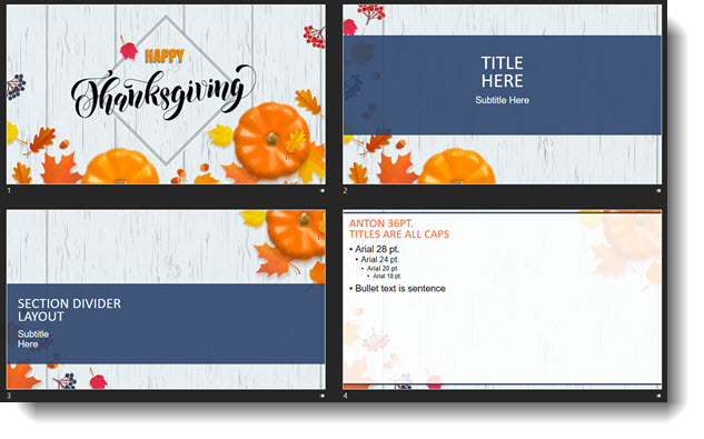 Free Thanksgiving Template The Powerpoint Blog