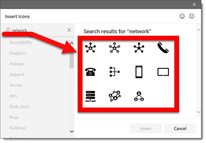 The PowerPoint Icon Library Adds a Search Feature (YAY
